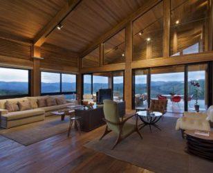 modern contemporary wood house interior design
